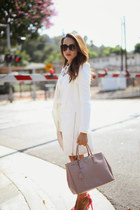 white Missguided jacket - bubble gum Qupid shoes - white Baukjen shirt