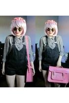 pink batchel Cambridge Satchel Company bag - bunny print H&M shirt