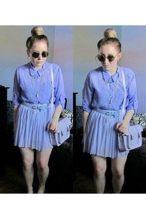 light purple lilac Suzy Shier shirt