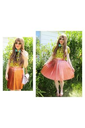Topshop skirt - light purple Cambridge Satchel Company bag