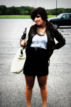 jacket - Urban Outfitters top - Wet Seal belt - Forever 21 purse - skirt - Forev