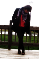 Mossimo shoes - Charlotte Russe pants - Forever 21 dress - St Johns Bay coat - F