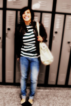 shirt - American Eagle jeans - jacket - belt - Charlotte Russe shoes
