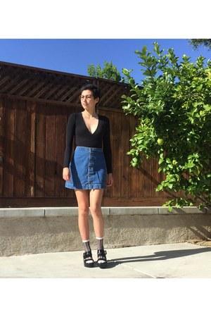 sheer American Apparel socks - denim American Apparel skirt