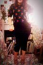 Red-marks-and-spencers-sweater-black-primark-leggings-black-h-m-skirt-beig