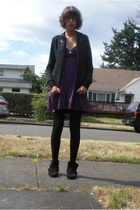 Talula jacket - Urban Outfitters dress - H&M tights - Miss Me - homemade accesso