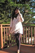 pink dress - beige Forever 21 socks