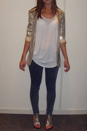 River Island jacket - Topshop jeans - Topshop t-shirt