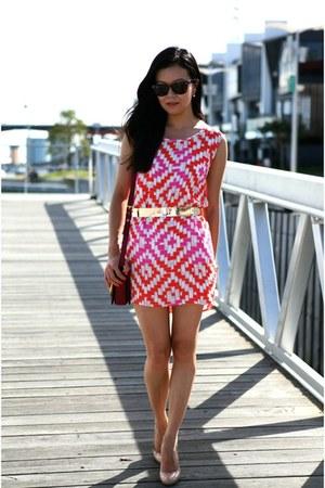 Sass and Bide dress - brick red Miu Miu bag