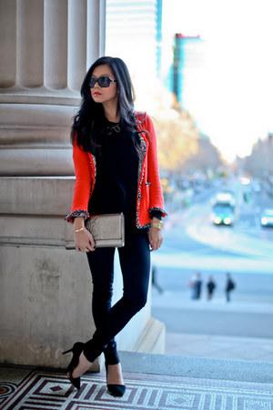 black Zara shoes - black Rag and Bone jeans - black Kookai sweater