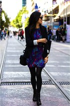 Tibi dress - Rag and Bone boots - Zara blazer - Miu Miu bag