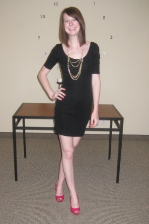 H&amp;M dress - H&amp;M necklace - shoes
