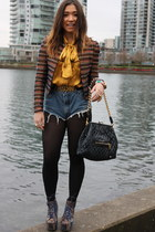 vintage silk Givenchy blouse - maison scotch blazer - Marc Jacobs bag