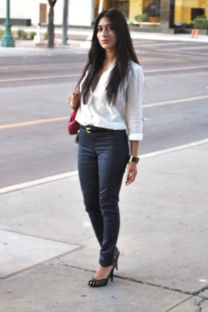 denim jeans H&M jeans - lamb Marc Jacobs bag - cotton H&M blouse