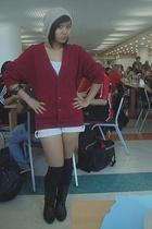 sweater - kirra top - shoes - Unionbay shorts