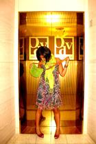 diva couture dress - scarf - coach purse - santa lolla shoes