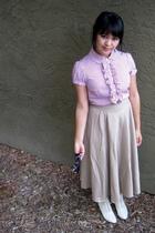 forever 21 blouse - thrifted skirt - thrift boots