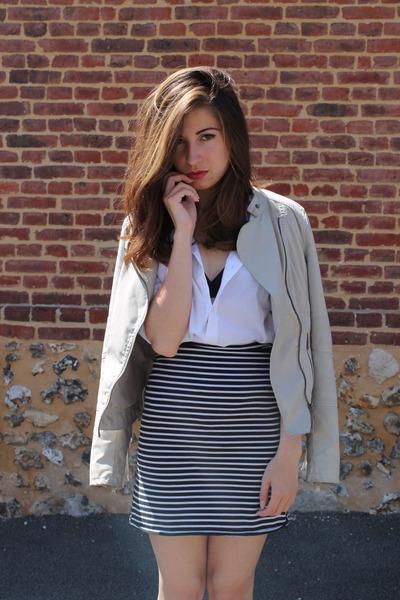 Fashion Pills jacket - H&M blouse - jennyfer skirt - Adidas sneakers