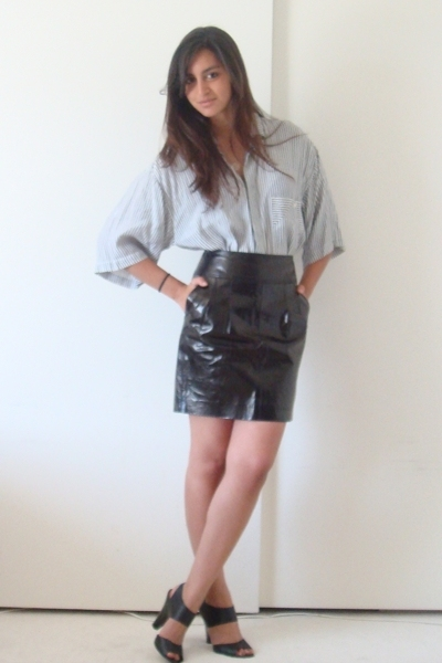 black express leather skirt - black Target shoes