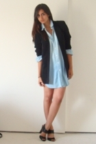 vintage blazer - vintage denim shirt - Target shoes