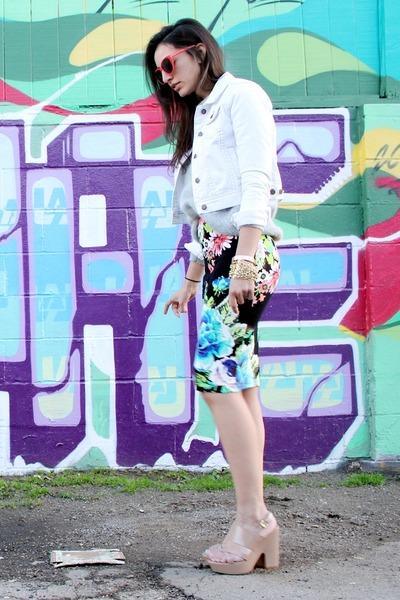 coral Forever 21 sunglasses - white Forever 21 jacket