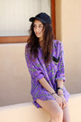Black-h-m-hat-purple-vintage-silk-blouse-black-vince-camuto-heels