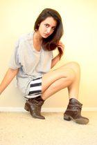 gray Heritage 1981 t-shirt - white thrifted luella for target skirt - brown Stev