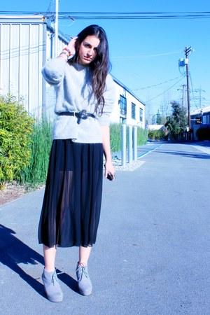 black sheer American Apparel skirt - black American Apparel dress