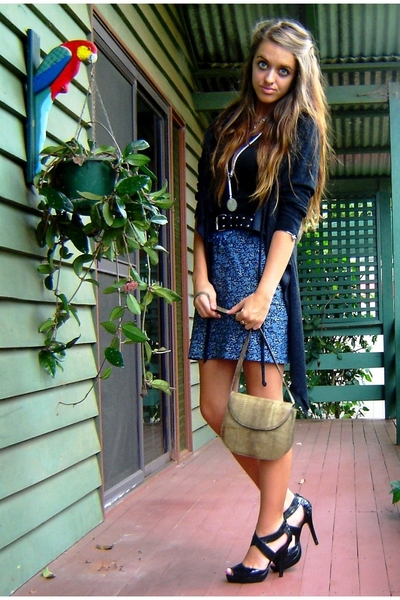 vintage jacket - DIY skirt - vintage purse - rubi shoes