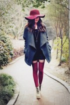 Jeffrey Campbell boots - Heartloom coat - floppy Urban Outfitters hat