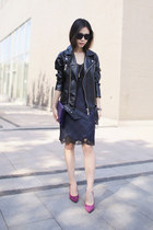 Nasty Gal jacket - slip dress Zara dress