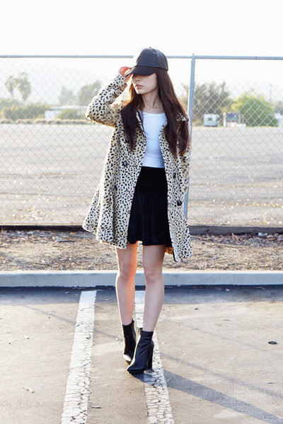 free people coat - black zora boots Jeffrey Campbell boots