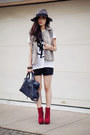 Dolce-vita-boots-balenciaga-bag-faux-leather-urban-outfitters-shorts