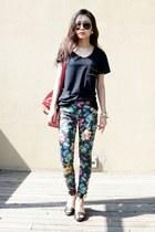 Marc Jacobs bag - floral print Topshop jeans - LnA t-shirt - Rachel Zoe sandals