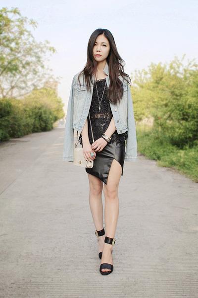 black Rachel Zoe sandals