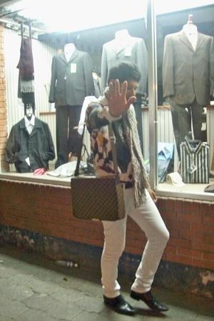 jacket - jeans - purse