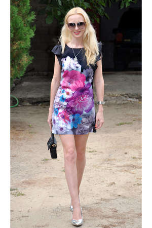 pink Miss Selfridge dress - black Marc by Marc Jacobs bag
