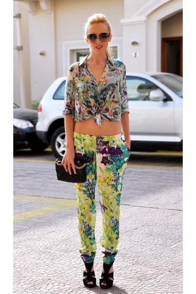 Zara blouse - mark by marc jacobs bag - christian dior sunglasses - Mango pants
