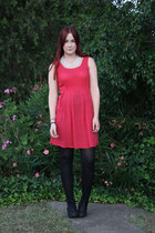 red Dotti dress