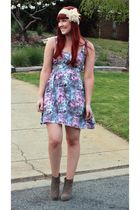 pink Dotti dress - beige rubi boots - pink diva accessories - silver Sportsgirl