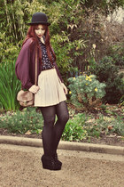 neutral pleated alice in the eve skirt - magenta Ebay cardigan