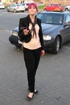 H&M jacket - brick lane market scarf - Asumi t-shirt - Bershka pants - Mango acc