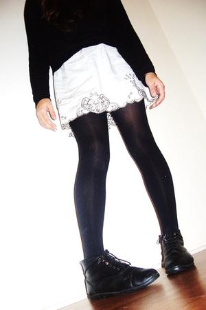 Talula shirt - Forever 21 dress - tights - vintage shoes