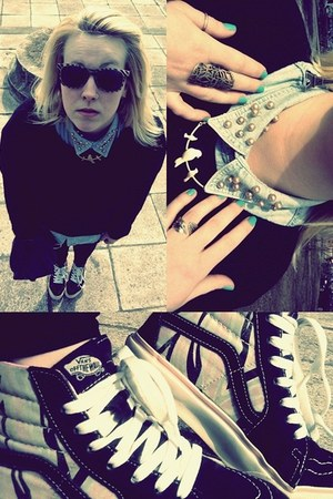 Vans shoes - shirt - H&M necklace
