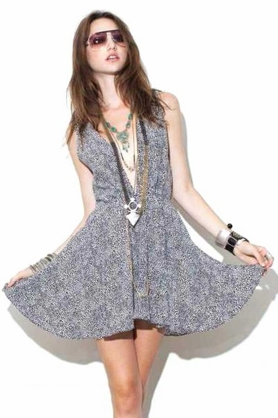 polka dot print For Love & Lemons dress
