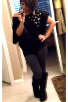 shirt - leggings - boots