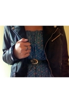 H&M jacket - Aardvarks dress - belt