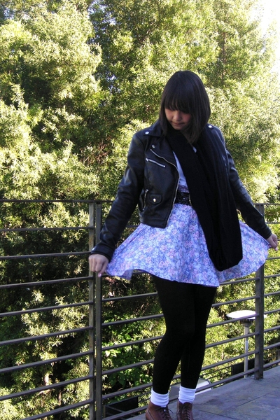 H&M jacket - skirt - American Apparel shirt - Ebay shoes - American Apparel scar
