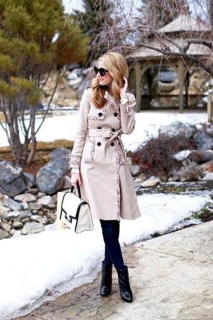 kate spade jacket - brian atwood boots - rag & bone jeans - kate spade bag