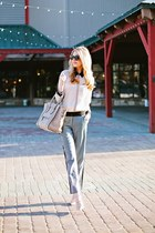 ann taylor pants - Celine bag - dior sunglasses - Valentino pumps